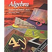 Algebra Structure and Method, Grades 8-11 Book 1
