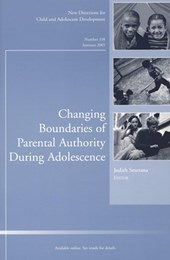 Changing Boundaries of Parental Authority During Adolescence