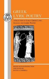 Greek Lyric Poetry | David A. Campbell |