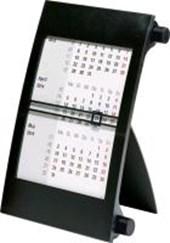 rido Tischkalender 2019, 3-Monatskalender Drehknopf schwarz