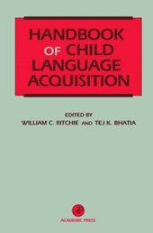 Handbook of Child Language Acquisition
