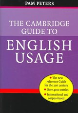 The Cambridge Guide to English Usage | Pam Peters |