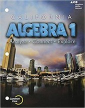 Holt McDougal Algebra 1 California