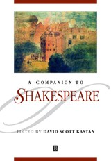 A Companion to Shakespeare | David Scott Kastan |