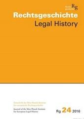 Rechtsgeschichte Legal History Rg