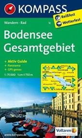 Kompass WK1c Bodensee Gesamtgebiet