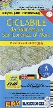 Fahrradkarte Von Sanremo nach Lorenzo al Mare 1 : 25.000