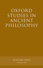 Oxford Studies in Ancient Philosophy, Volume XXIV