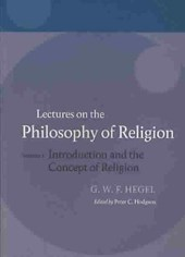 Hegel: Lectures on the Philosophy of Religion