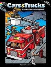 Cars & Trucks Stained Glass Coloring Book