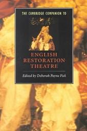 The Cambridge Companion to English Restoration Theatre