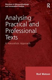 Analysing Practical and Professional Texts