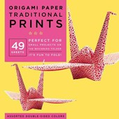 Origami paper traditional prints : 49 sheets