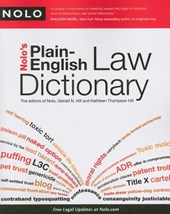 Nolo's Plain-English Law Dictionary