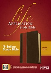 NIV Life Application Study Bible, Second Edition, TuTone (Red Letter, LeatherLike, Brown/Tan, Indexed)
