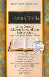 RVR 1960 Biblia Letra Grande Edicion Especial con Referencias, negro piel fabricada