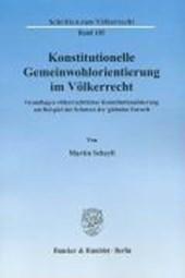 Konstitutionelle Gemeinwohlorientierung im Völkerrecht