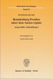 Brandenburg-Preußen unter dem Ancien régime