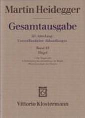Gesamtausgabe 68. Hegel