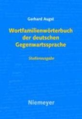 Wortfamilienwoerterbuch Der Deutschen Gegenwartssprache