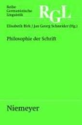 Philosophie der Schrift