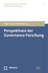 Perspektiven der Governance-Forschung
