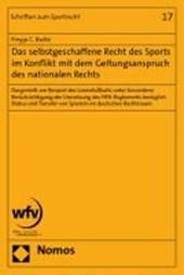 Das selbstgeschaffene Recht des Sports im Konflikt mit dem Geltungsanspruch des nationalen Rechts