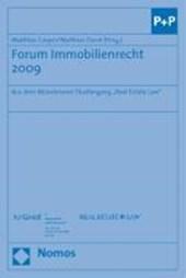 Forum Immobilienrecht 2009