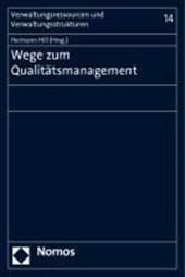 Wege zum Qualitätsmanagement