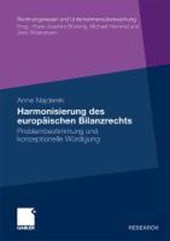 Harmonisierung Des Europaischen Bilanzrechts