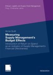 Measuring Supply Management's Budget Effects
