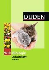Duden Biologie 9/10 Arbeisheft. Thüringen Regelschule
