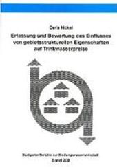 Erfassung und Bewertung des Einflusses von gebietsstrukturellen Eigenschaften auf Trinkwasserpreise