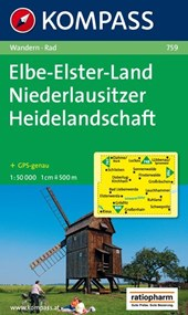 Kompass WK759 lbe, Elster Land,Niederlausitzer Heidelandschaft