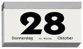 Tagesabreißkalender 2018 Nr. 312-0000/Querformat