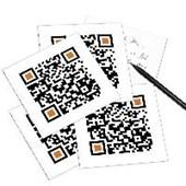 5er Set QR Code-Postkarte - mit Smartphone einscannen und Grußbotschaft erhalten: HAPPY BIRTHDAY!