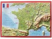 Reliefpostkarte Frankreich