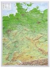 Reliefkarte Deutschland klein 1 :