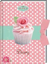 Set dagboek cupcakes met lint/6x8,95