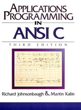Applications Programming in ANSI C | Richard Johnsonbaugh |