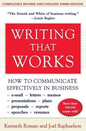 Writing That Works | Roman, Kenneth ; Raphaelson, Joel |