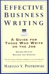 Effective Business Writing | Maryann V. Piotrowski |