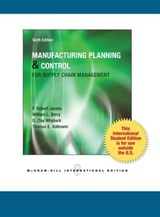 Manufacturing Planning and Control for Supply Chain Management | F. Robert Jacobs |