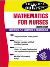 Schaum's Outline of Mathematics for Nurses