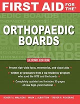 First Aid for the Orthopaedic Boards | Robert Malinzak |