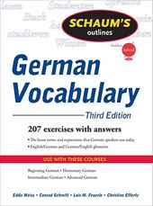 Schaum's Outline of German Vocabulary | Edda Weiss |