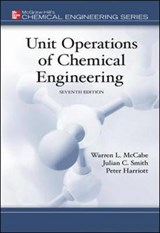 Unit Operations Of Chemical Engineering | Mccabe, Warren L. ; Smith, Julian C. ; Harriott, Peter |