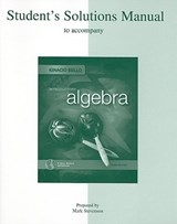 Introductory Algebra Student's Solutions Manual | Ignacio Bello |