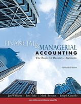 Financial & Managerial Accounting | Jan Williams |