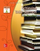 Achieving Tabe Success in Reading, Level a Workbook | McGraw-Hill Education |